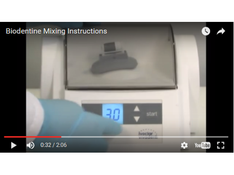 Biodentine Mixing Instructions